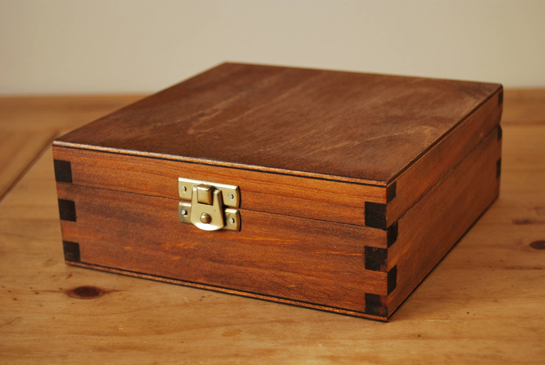 WOODEN  BOX IN PURPLE COLOR  LOCKABLE LATCH