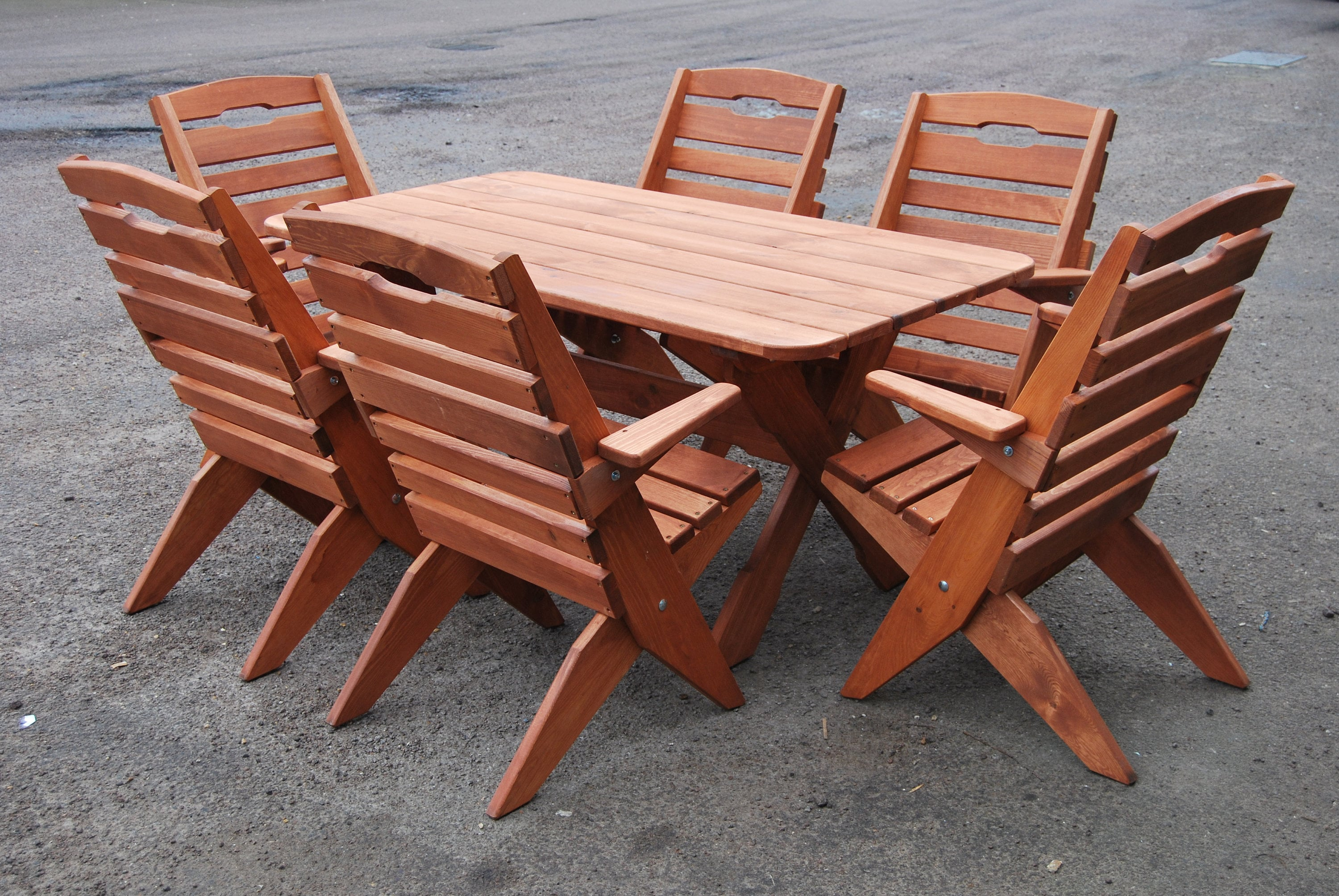 Cool Wooden Garden Furniture Folding Table And 6 Folding Chairs Pdpeps Interior Chair Design Pdpepsorg
