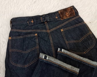78f1baf4 Vintage LEE Cowboy Union Made Sanforized Shrunk Selvedge Denim Fits Waist  29 Made in Japan