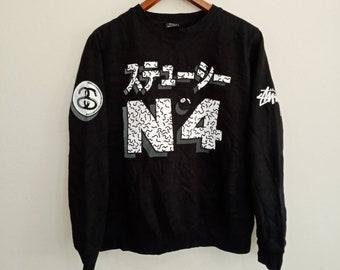 fe47f660d6eb STUSSY N4 Super Rare Design Black Colour Sweatshirt