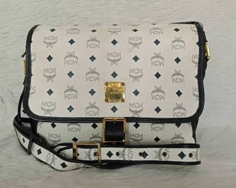 4d748d4f9920 Vintage Authentic Luxury High End Brand MCM Modern Creation Munchen  Monogram Design Bag Handmade in West Germany