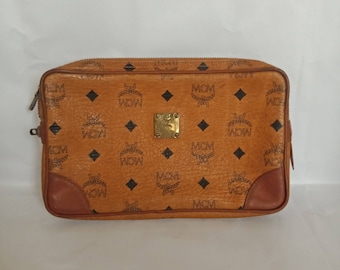 7e194b418c85a7 Vintage Authentic Luxury High End Brand MCM Modern Creation Munchen  Monogram Design Clutchbag Made In Germany