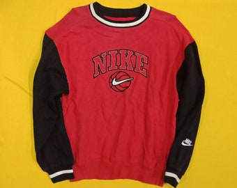 d6e795653 Stunning Red Colour Vintage Nike Super Rare Embroidered Design Sweatshirts