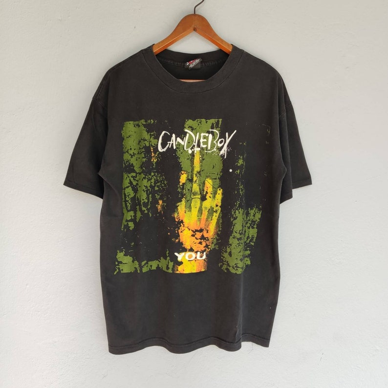 Vintage 90s Candlebox Band T Shirt by Giant Made in Usa Size XL