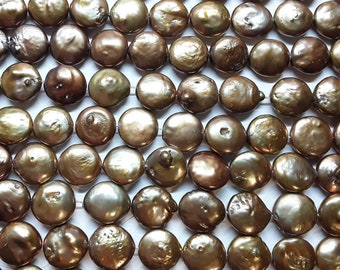 12mm Coin Pearls Freshwater Bronze
