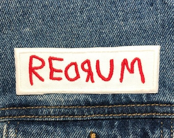 Iron On Backing. Tales Comic Embroidered Patch Horror Movie Inspired Patches