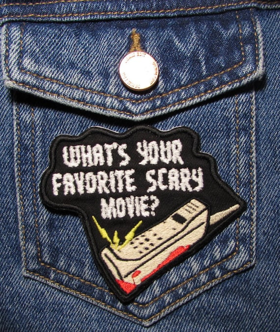 Horror Movie Inspired Patches Iron On Backing. Sidney Embroidered Patch