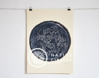 Star Map -Limited edition print on paper