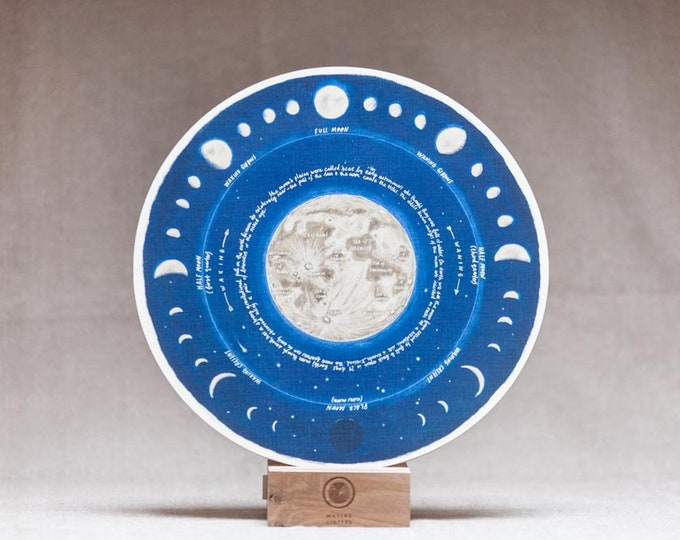 Moon Phases - Lunar Calendar - 'Native Circles' Birchwood Wheel by Irish artist Emily Robyn Archer
