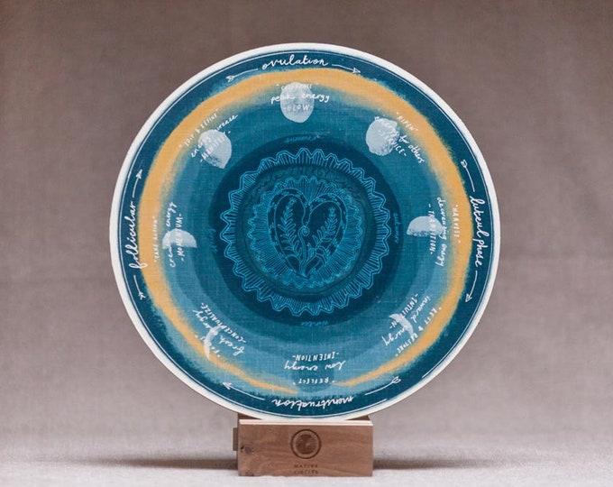 Female Energy Cycle - 'Native Circles' Birchwood Wheel by Irish artist Emily Robyn Archer