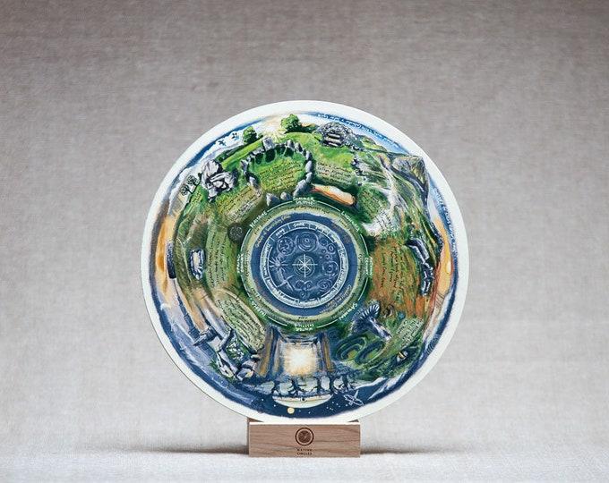 Sacred Sites of Ireland -Birchwood Wheel Print