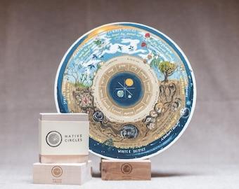 Wheel of the Year Calendar - 'Native Circles' Birchwood Wheel by Irish artist Emily Robyn Archer