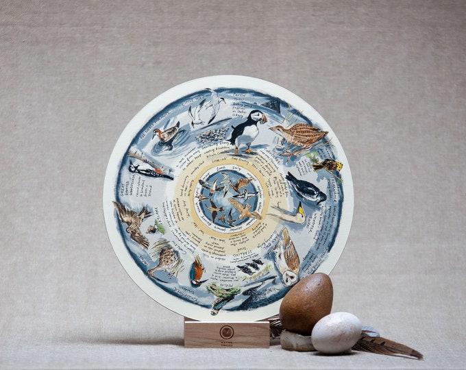 Some Rare Birds of Ireland -Birchwood Wheel Print