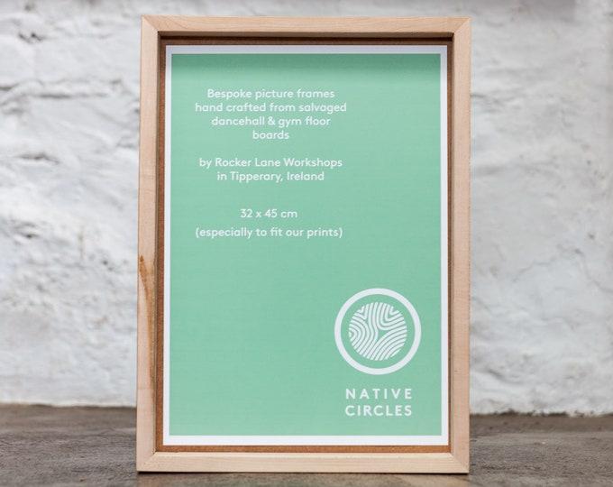Bespoke Frames - handmade, upcycled from Maple floorboards in Ireland