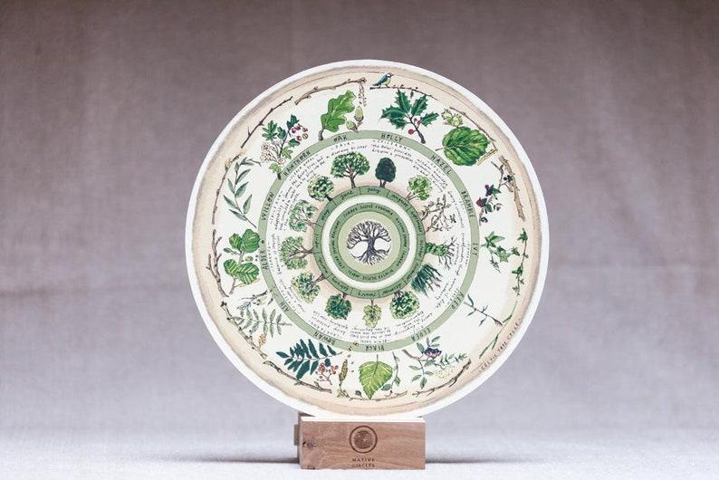 Celtic Tree Calendar  'Native Circles' Birchwood image 0