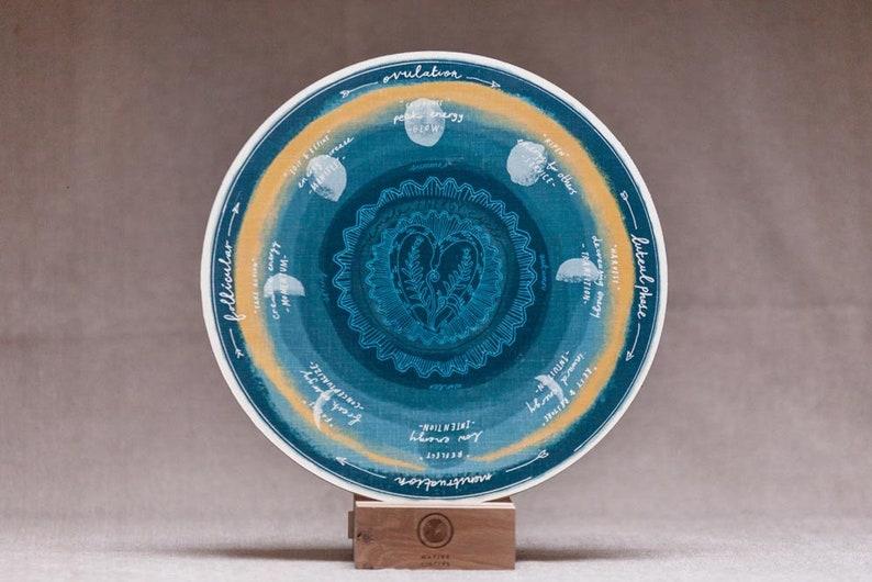 Female Energy Cycle  'Native Circles' Birchwood Wheel image 0