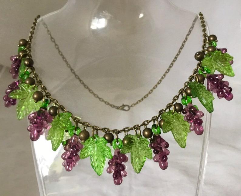Vintage Inspired* Glass Grapevine Necklace *1950\u2019s Pinup*