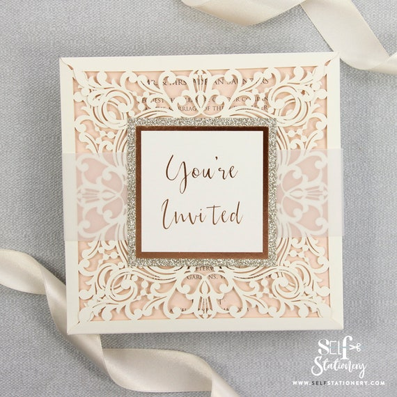Diy Wedding Invitations Kits: DIY Kit Laser Cut Wedding Invitations Do It Yourself
