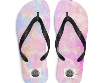 Finding Dory Pastel Pattern Flip Flops   (With