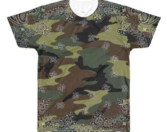 2b2daf312a 90s Hip Hop Clothing Army Camo Mens Shirt Camouflage Bandana Paisley 90s  Clothing Military Dance Punk Festival Burning Man Rave Clothing