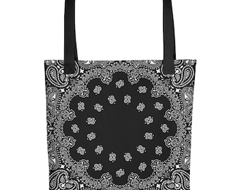 6688c756e7 90s Hip Hop Clothing Bandana Beach Bag Tote Bag Paisley 90s Clothing Pin Up  Rockabilly Dance Punk Dia De Los Muertos Festival Rave Clothing