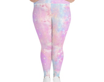 fee74ee6421 Pastel Goth Galaxy Plus Size Leggings Yoga Leggings Yoga Tights Fairy Kei  Rainbow Unicorn Leggings Aesthetic Clothing Kawaii Tights Harajuku