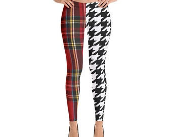 3ca9670d6 Punk Clothing Tartan Plaid Houndstooth Ska Yoga Leggings Yoga Tights  Printed Leggings Printed Tights Nirvana Kurt Cobain 90s Grunge Clothing