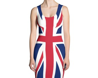 5e1919a6 Spice Girls Dress Union Jack 90s Dress Cosplay Costume Drag Spandex Dress  Rave Outfit Girl Power 90s Clothing UK Flag Patriotic London