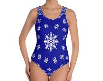 9539bfbfae5 Paisley Fabric Bandana One Piece Swimsuit Women Bodysuit Women Gymnastics  Leotard Figure Skating Dance Costume Bathing Suits Women Rave Wear