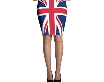 abe85115 Spice Girls Union Jack 90s Dress Cosplay Costume Drag Spandex Pencil Skirt  Rave Outfit Girl Power 90s Clothing UK Flag Patriotic London