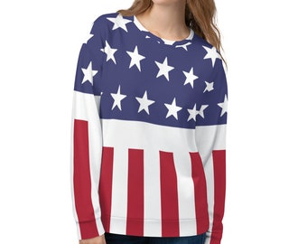 c23819f2e4e1 Prodigy Firestarter 90s Sweater Oversized Sweater 90s Shirt 90s Clothing  American Flag Patriotic 4th of July Stars and Stripes Avengers