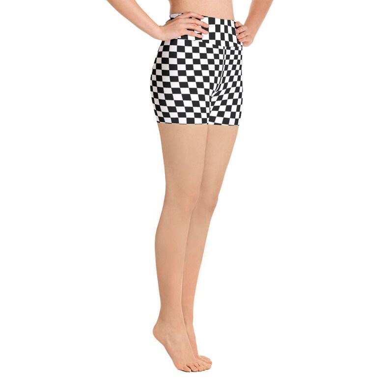 27a23a1b0b95c Masonic Checkerboard Chess Board Spandex Yoga Workout High
