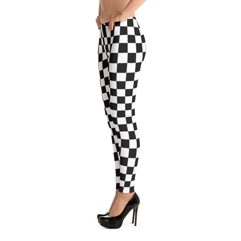 91cbfb6d0755b Masonic Checkerboard Chess Board Spandex Yoga Leggings Tights