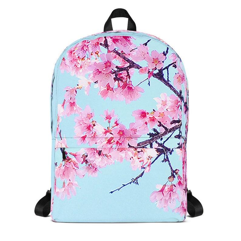 3cd27f9c93 Sakura Cherry Blossom Laptop Backpack Women Vaporwave
