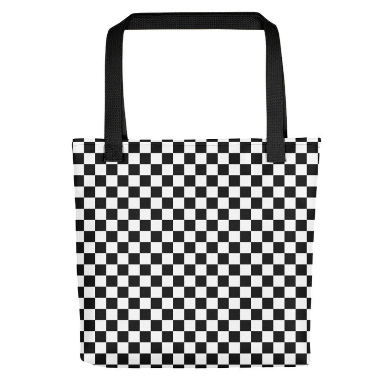 f8972b5e18df8 Masonic Checkerboard Chess Board Beach Bag Tote 80s Punk Ska