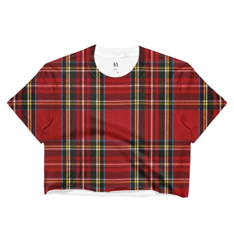 63a141578801a Tartan Red Plaid Crop Top Nirvana Kurt Cobain Soft Grunge Punk