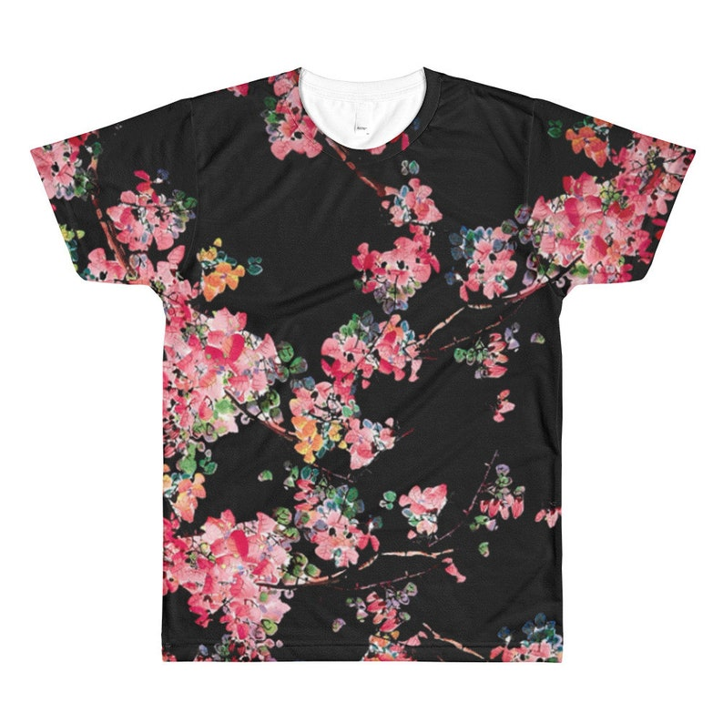 2aba299fad1 Sakura Cherry Blossom Mens Shirt Vaporwave Aesthetic Clothing