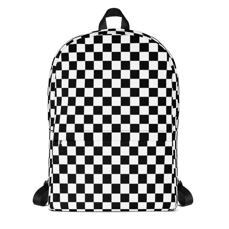 439c19fcb5fa5 Masonic Checkerboard Chess Board 80s 90s Laptop Backpack Women