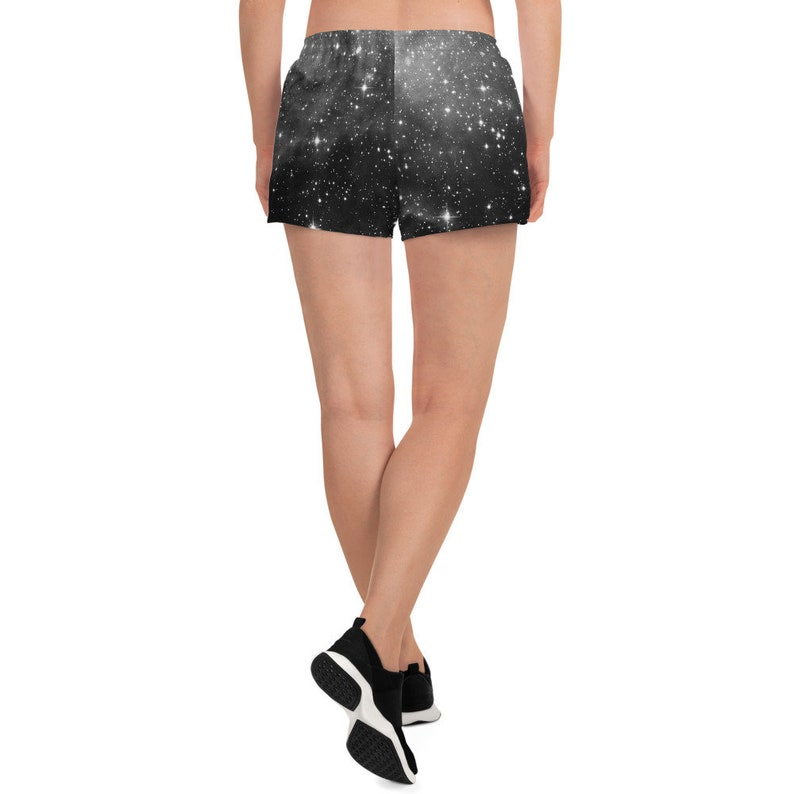 Starry Night Sky Print Rave Shorts Running Shorts Yoga Shorts Pole Dance Shorts Roller Derby Sport Shorts Pagan Clothing Witch Clothing
