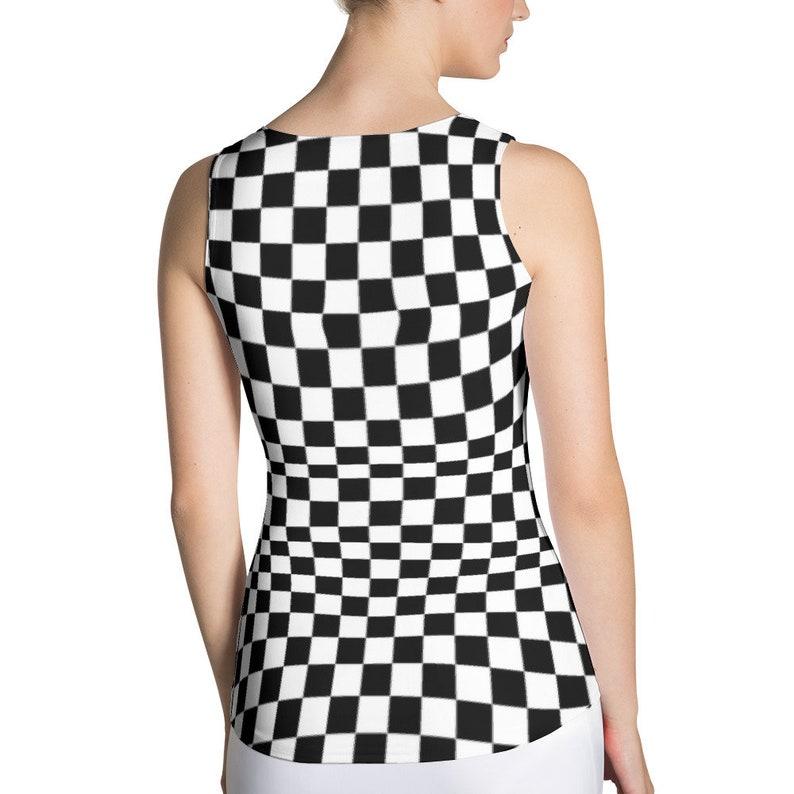 d20359f6070b5 Masonic Checkerboard Chess Board Womens Tank Top 80s 90s Punk