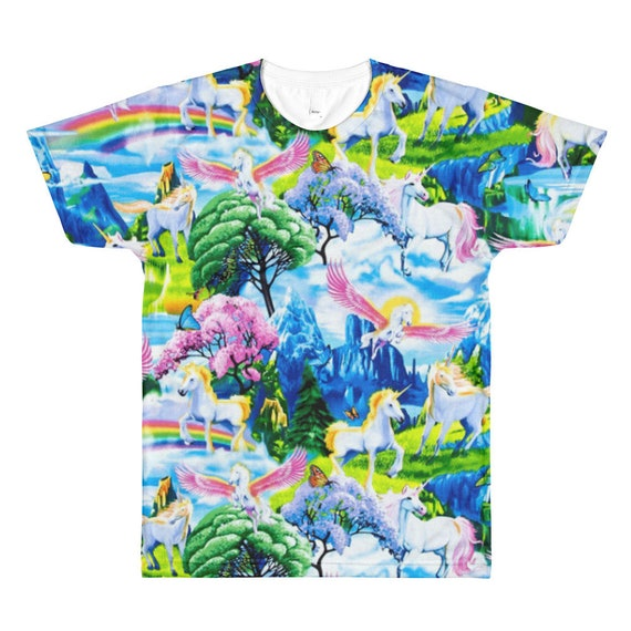7d3aaeade6 Pegasus Unicorn Shirt Rainbow Shirt Kawaii Shirt Mens Harajuku | Etsy