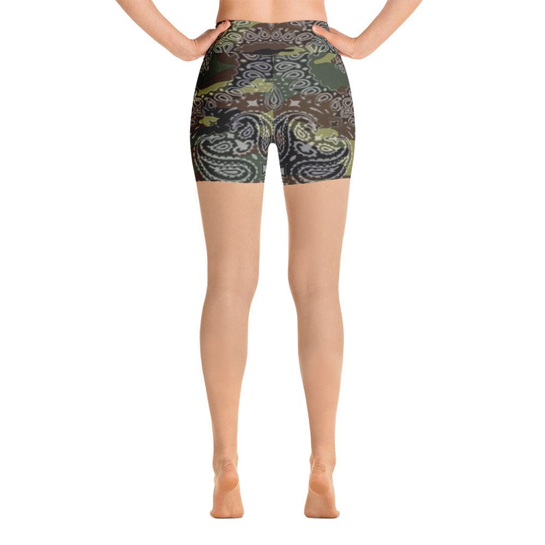 71376e767c 90s Hip Hop Clothing Army Spandex Yoga Workout High Waisted