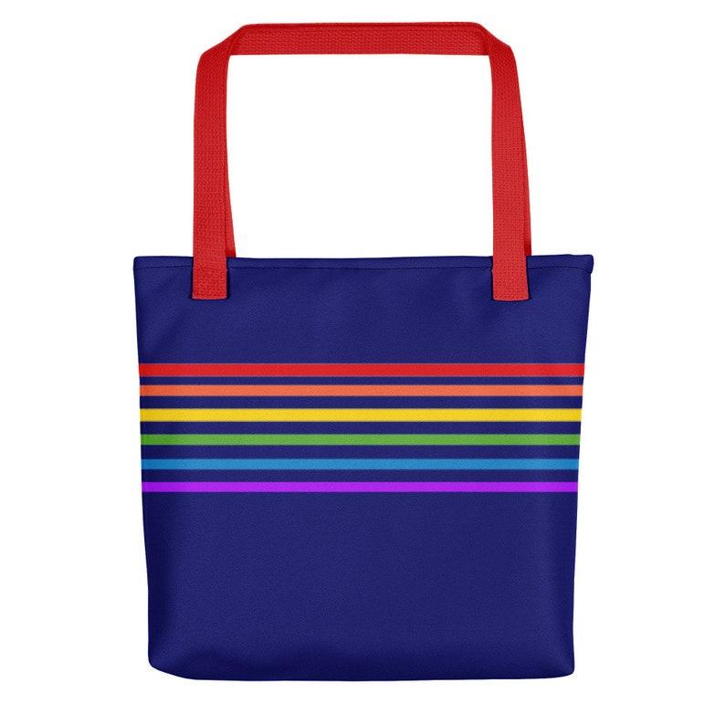 95a5747ec46 80s Clothing Rainbow Stripe Beach Bag Tote Bag Retro Ombre | Etsy