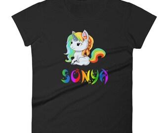 Sonya Unicorn Ladies T-Shirt