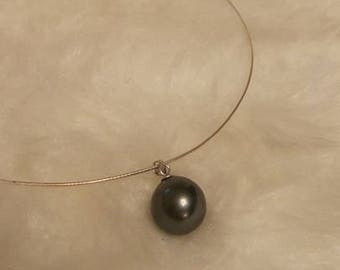 16MM Black South Sea Shell Pearl Necklace
