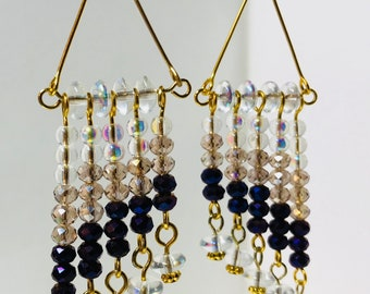 Purple and gold 3.5 inch chandelier airings
