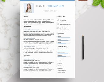 Professional | Modern Resume Template for Word | Creative Resume Design | CV Template | Instant Download | PC & Mac
