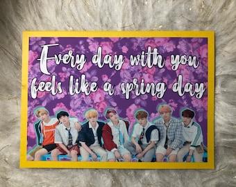 BTS Spring Day Valentine Kpop Korea Bangtan Boys Jung Kook Jimin Suga
