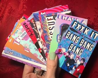 Set of 16 mini Kpop Valentines BIGBANG pentagon NCT127 Dean Hyolyn Momoland v.3