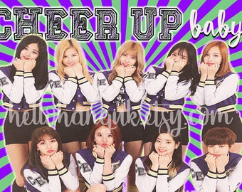 Twice cheer up card, notecard, kpop, get well, thinking of you
